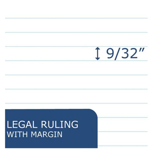 Recycled Legal Pad, Wide/Legal Rule, 8.5 x 11, White, 40 Sheets, Dozen. Picture 4