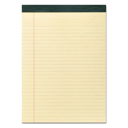 Recycled Legal Pad, Wide/Legal Rule, 8.5 x 11, Canary, 40 Sheets, Dozen. Picture 1