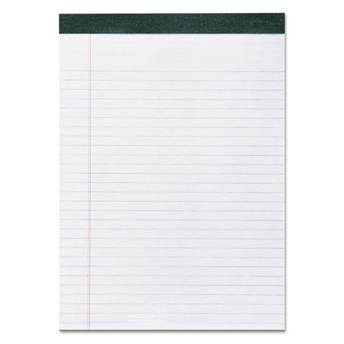 Recycled Legal Pad, Wide/Legal Rule, 8.5 x 11, White, 40 Sheets, Dozen. Picture 1