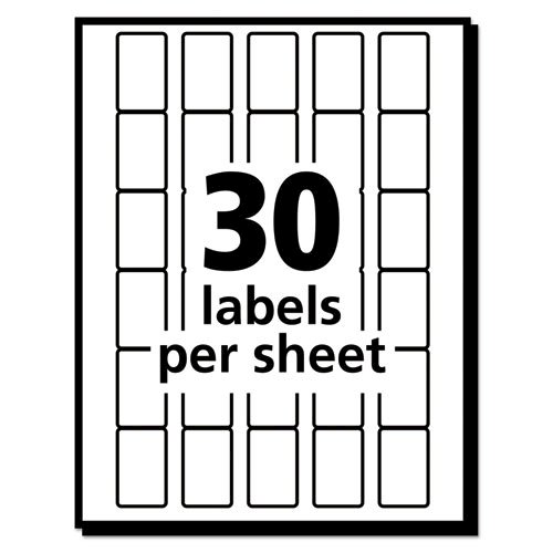Removable Multi-Use Labels, Handwrite Only, 0.63 x 0.88, White, 30/Sheet, 35 Sheets/Pack, (5424). Picture 3