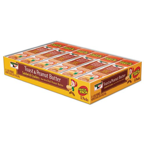 Sandwich Crackers, Toast and Peanut Butter, 8 Cracker Snack Pack, 12/Box. Picture 1