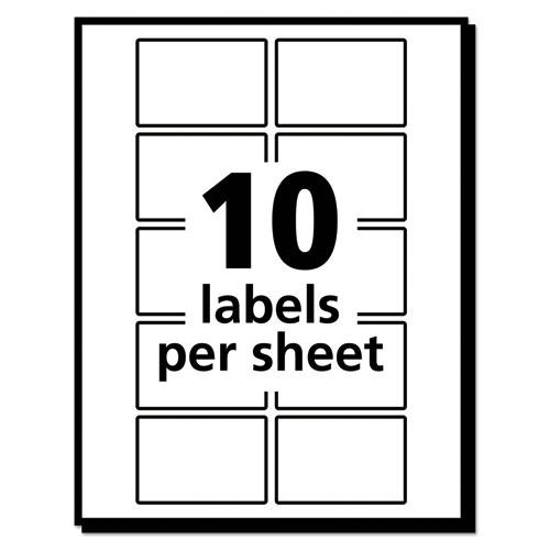 Removable Multi Use Labels 1 X 1 12 White 500pack