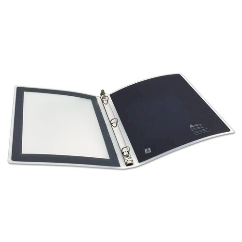 """Flexi-View Binder with Round Rings, 3 Rings, 0.5"""" Capacity, 11 x 8.5, Black. Picture 2"""
