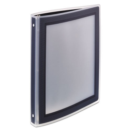 """Flexi-View Binder with Round Rings, 3 Rings, 0.5"""" Capacity, 11 x 8.5, Black. Picture 3"""