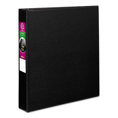 """Durable Non-View Binder with DuraHinge and Slant Rings, 3 Rings, 1.5"""" Capacity, 11 x 8.5, Black. Picture 1"""