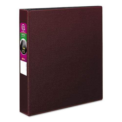 "Durable Non-View Binder with DuraHinge and Slant Rings, 3 Rings, 1.5"" Capacity, 11 x 8.5, Burgundy. Picture 1"