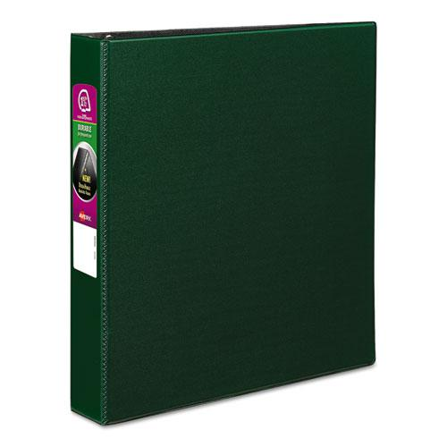 """Durable Non-View Binder with DuraHinge and Slant Rings, 3 Rings, 1.5"""" Capacity, 11 x 8.5, Green. Picture 1"""