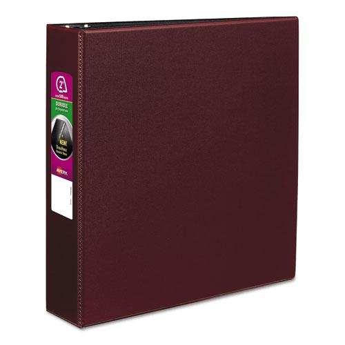 "Durable Non-View Binder with DuraHinge and Slant Rings, 3 Rings, 2"" Capacity, 11 x 8.5, Burgundy. Picture 1"
