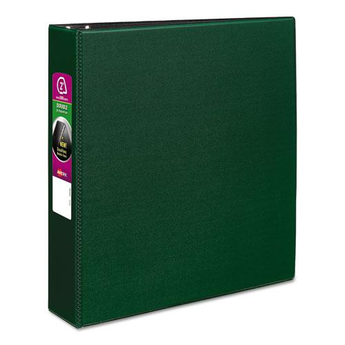 """Durable Non-View Binder with DuraHinge and Slant Rings, 3 Rings, 2"""" Capacity, 11 x 8.5, Green. Picture 1"""