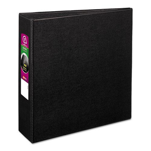 """Durable Non-View Binder with DuraHinge and Slant Rings, 3 Rings, 3"""" Capacity, 11 x 8.5, Black. Picture 1"""