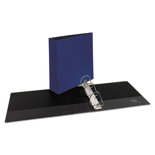 "Durable Non-View Binder with DuraHinge and Slant Rings, 3 Rings, 3"" Capacity, 11 x 8.5, Blue. Picture 7"