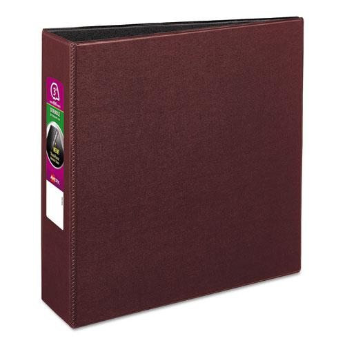 "Durable Non-View Binder with DuraHinge and Slant Rings, 3 Rings, 3"" Capacity, 11 x 8.5, Burgundy. Picture 1"