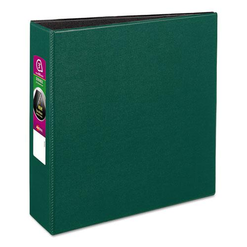 "Durable Non-View Binder with DuraHinge and Slant Rings, 3 Rings, 3"" Capacity, 11 x 8.5, Green. Picture 1"