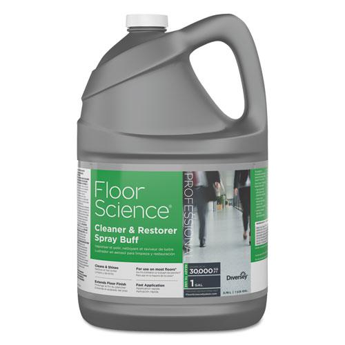 Floor Science Cleaner/Restorer Spray Buff, Citrus Scent, 1 gal Bottle, 4/Carton. The main picture.