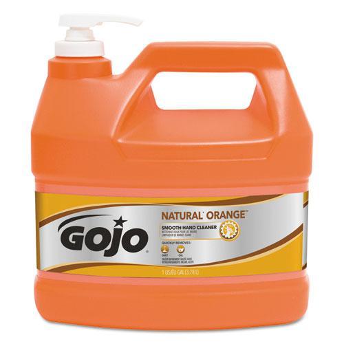 NATURAL ORANGE Smooth Hand Cleaner, Citrus Scent, 1 gal Pump Dispenser, 4/Carton. Picture 1