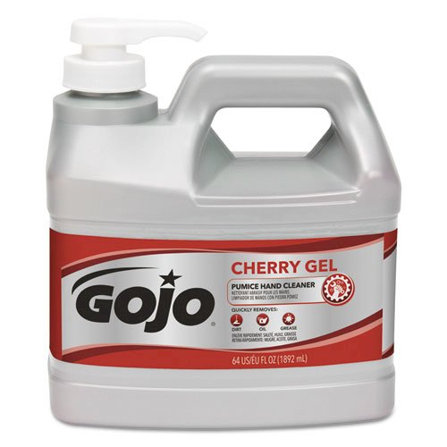 Cherry Gel Pumice Hand Cleaner, 1/2 gal Bottle, 4/Carton. Picture 1