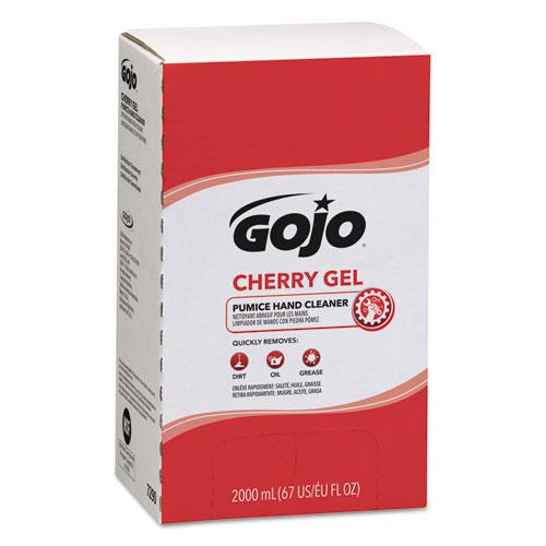 Cherry Gel Pumice Hand Cleaner, 2000 ml Refill, 4/Carton. Picture 1