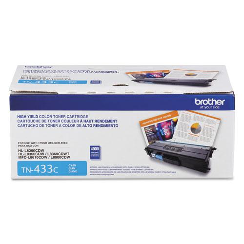 TN433C High-Yield Toner, 4,000 Page-Yield, Cyan. Picture 2