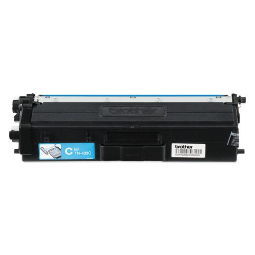 TN433C High-Yield Toner, 4,000 Page-Yield, Cyan. Picture 1