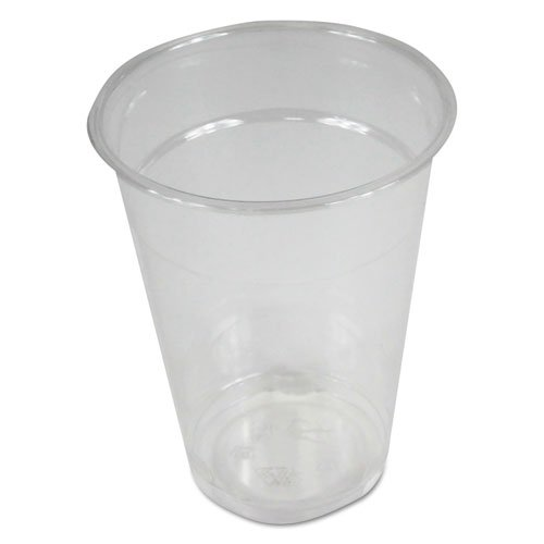 Clear Plastic Cold Cups, 9 oz, PET, 20 Cups/Sleeve, 50 Sleeves/Carton. Picture 1