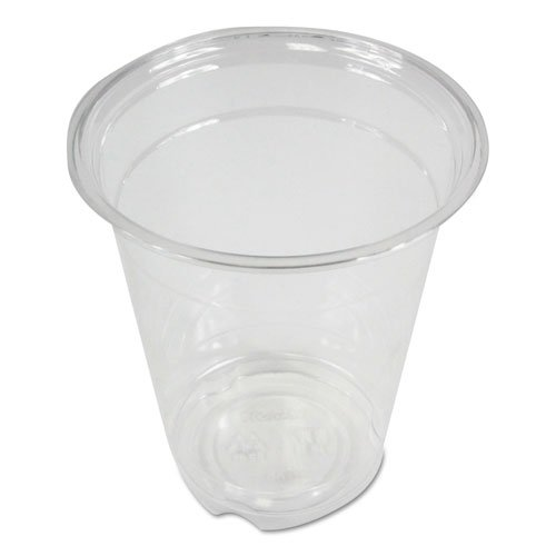 Clear Plastic Cold Cups, 12 oz, PET, 20 Cups/Sleeve, 50 Sleeves/Carton. Picture 1