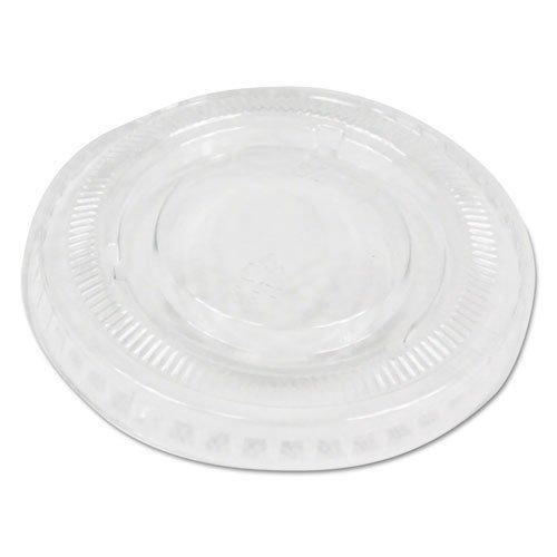 Soufflé/Portion Cup Lids, Fits 1 oz Portion Cups, Clear, 2500/Carton. Picture 1