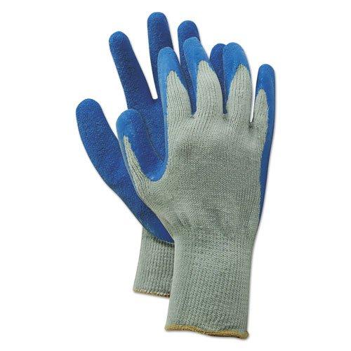 Rubber Palm Gloves, Gray/Blue, X-Large, 1 Dozen. Picture 1