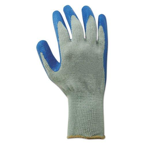Rubber Palm Gloves, Gray/Blue, X-Large, 1 Dozen. Picture 2