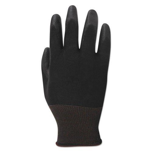 PU Palm Coated Gloves, Black, Size 8 (Medium), 1 Dozen. Picture 2