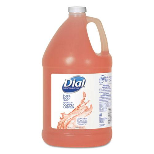Body and Hair Care, Gender-Neutral Peach Scent, 1 gal Bottle, 4/Carton. Picture 1