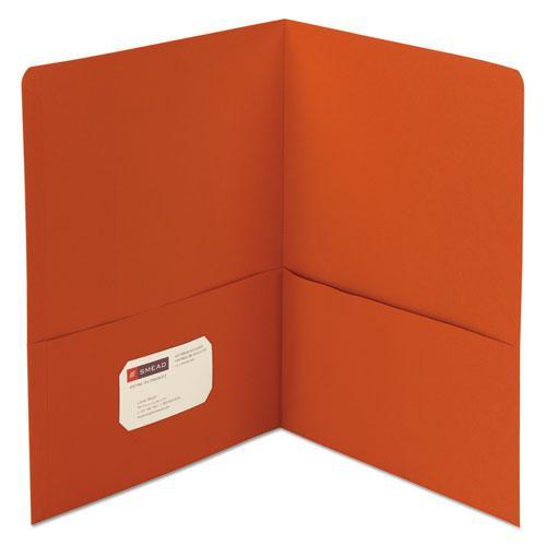 Two-Pocket Folder, Textured Paper, Orange, 25/Box. Picture 1