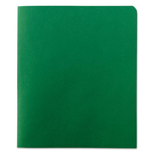 Two-Pocket Folder, Textured Paper, Green, 25/Box. Picture 2