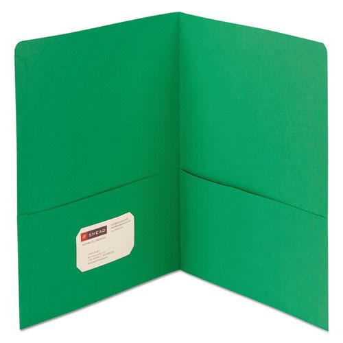 Two-Pocket Folder, Textured Paper, Green, 25/Box. Picture 1