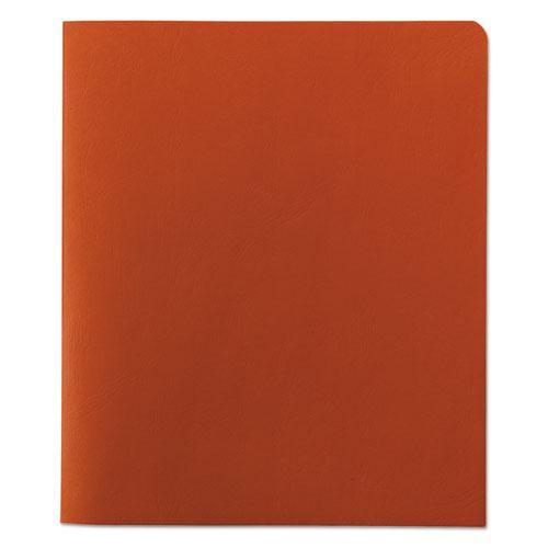 Two-Pocket Folder, Textured Paper, Orange, 25/Box. Picture 2