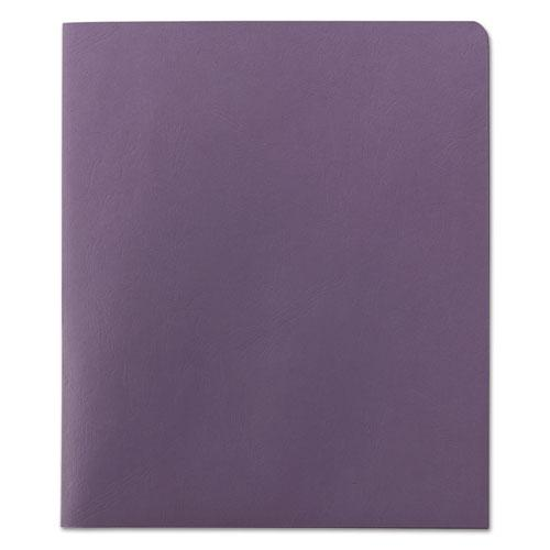 Two-Pocket Folder, Textured Paper, Lavender, 25/Box. Picture 2