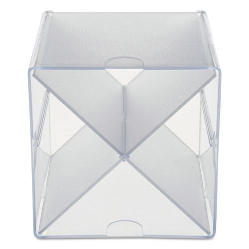 Stackable Cube Organizer, X Divider, 6 x 7 1/8 x 6, Clear. Picture 5