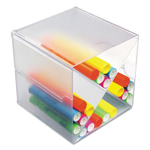 Stackable Cube Organizer, X Divider, 6 x 7 1/8 x 6, Clear. Picture 8