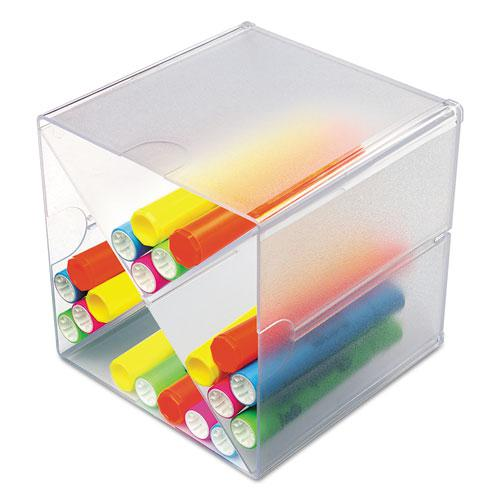 Stackable Cube Organizer, X Divider, 6 x 7 1/8 x 6, Clear. Picture 9