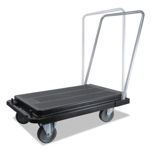 Heavy-Duty Platform Cart, 500 lb Capacity, 21 x 32.5 x 37.5, Black. Picture 5