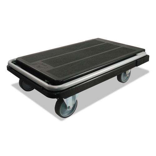 Heavy-Duty Platform Cart, 500 lb Capacity, 21 x 32.5 x 37.5, Black. Picture 6