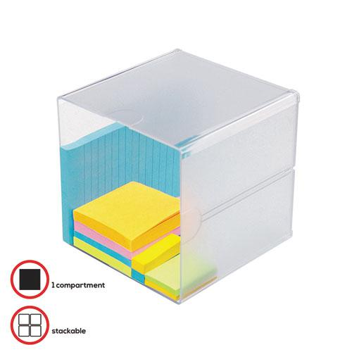 Stackable Cube Organizer, 6 x 6 x 6, Clear. Picture 2