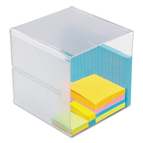 Stackable Cube Organizer, 6 x 6 x 6, Clear. Picture 3