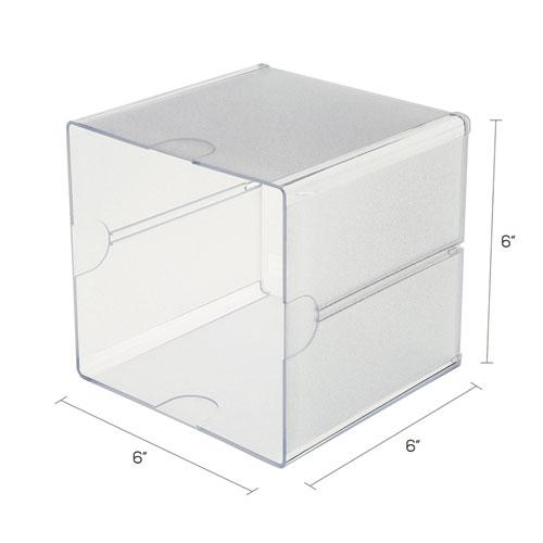 Stackable Cube Organizer, 6 x 6 x 6, Clear. Picture 4