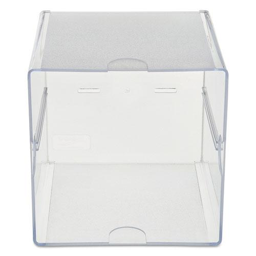 Stackable Cube Organizer, 6 x 6 x 6, Clear. Picture 6