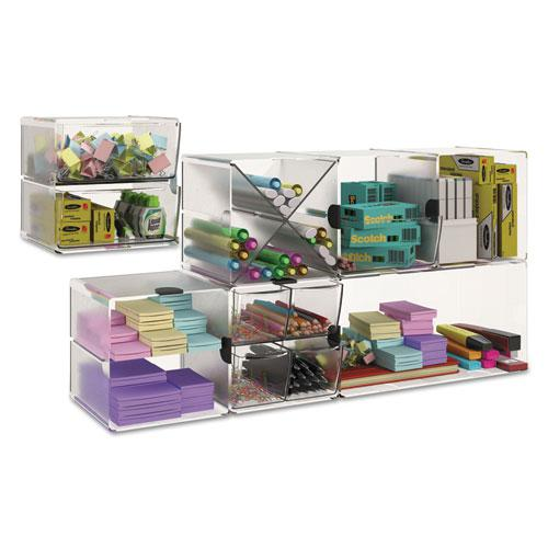 Stackable Cube Organizer, 6 x 6 x 6, Clear. Picture 9