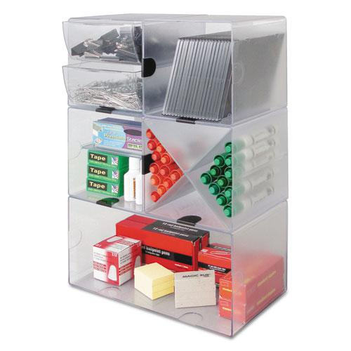 Stackable Cube Organizer, 6 x 6 x 6, Clear. Picture 10