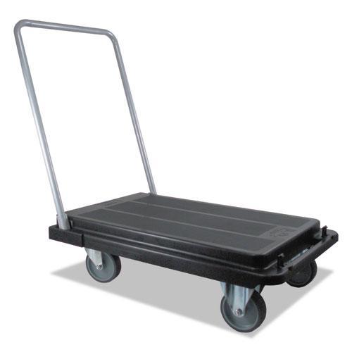 Heavy-Duty Platform Cart, 500 lb Capacity, 21 x 32.5 x 37.5, Black. Picture 2