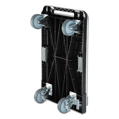 Heavy-Duty Platform Cart, 500 lb Capacity, 21 x 32.5 x 37.5, Black. Picture 7