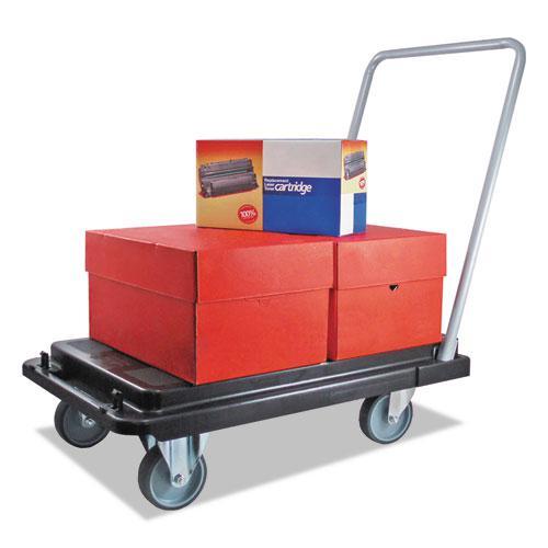 Heavy-Duty Platform Cart, 500 lb Capacity, 21 x 32.5 x 37.5, Black. Picture 9