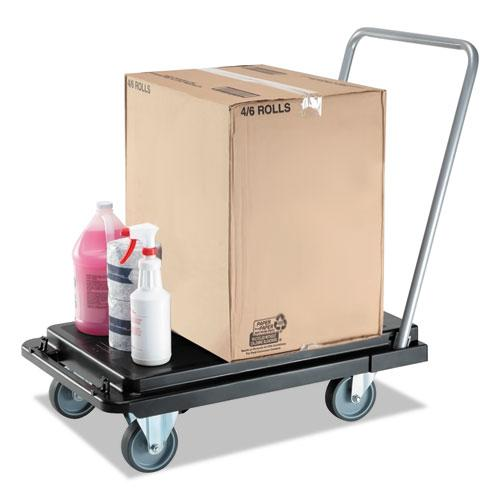 Heavy-Duty Platform Cart, 500 lb Capacity, 21 x 32.5 x 37.5, Black. Picture 8